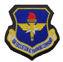 Air Education and Training Command- leather w/hook closure- color