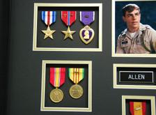 Silver Star, Bronze Star, Purple Heart, National Defense, & Vietnam Service Medal