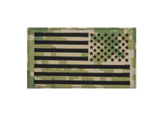 U.S. Flag Patch Reversed Field- Woodland Digital