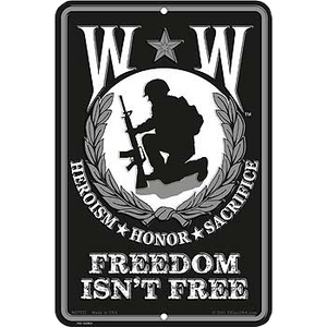 "8"" x 12"" WOUNDED WARRIOR  Aluminum Sign"