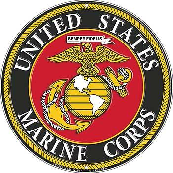 12quot us marines logo aluminum sign