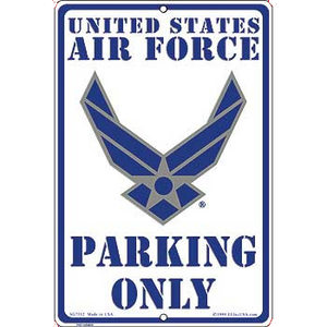 "8"" x 12"" U.S. AIR FORCE PARKING Aluminum Sign"