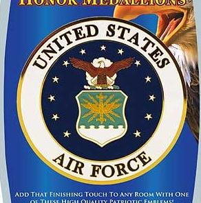 "4"" Honor Medallion- USAF Seal"