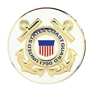 "4"" Honor Medallion- USCG Seal"