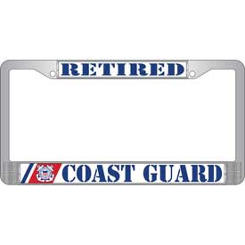 License Plate Frame- Coast Guard Retired