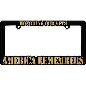 License Plate Frame- America Remembers