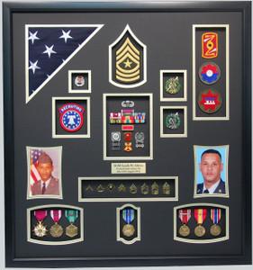 "27"" x 30"" US Army Recruiter Shadow Box"