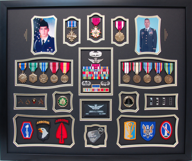 U.S. Army CW4 Shadow Box Display