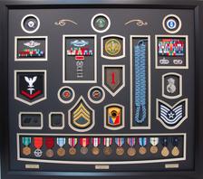 Triple Service Shadow Box Display Navy Army Air Force