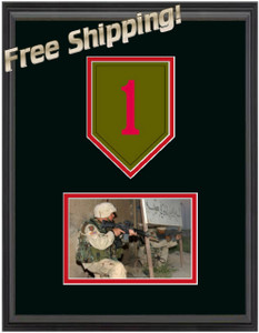 "11"" x 14"" 1st Infantry Frame w/ Photo"