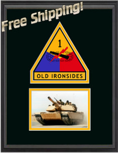 "11"" x 14"" 1st Armored Unit Frame w/ Photo"