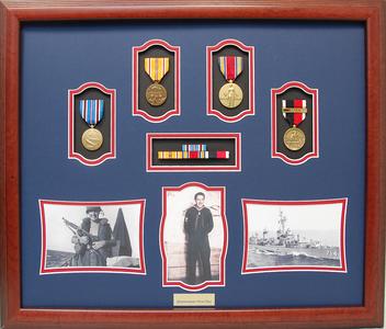 World War II Quartermaster Shadow Box Display