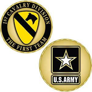 Army 1st Cavalry  Division Challenge Coin