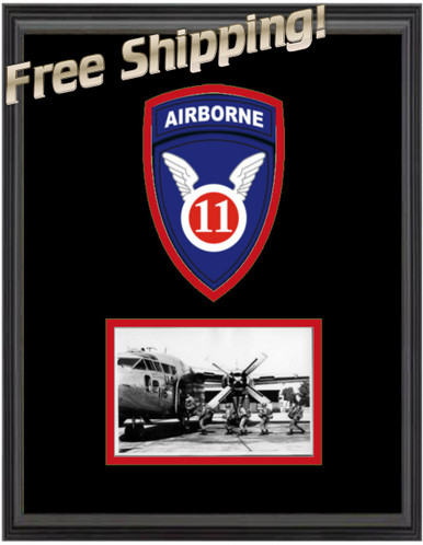 "11"" x 14"" 11th Airborne Frame Display"