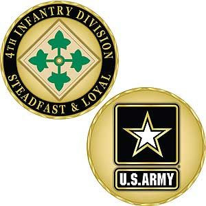 Army 4th Infantry  Division Challenge Coin
