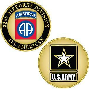 Army 82nd Airborne Division Challenge Coin