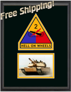 "11"" x 14"" 2nd Armored Unit Frame w/ Photo"