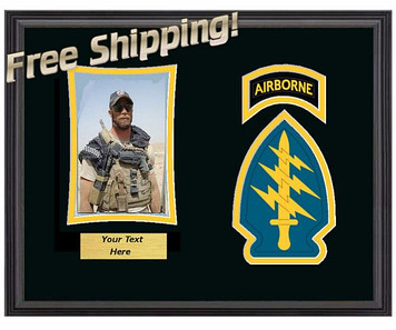 "11"" x 14"" Airborne Special Forces Horizontal Unit Frame w/ Photo"