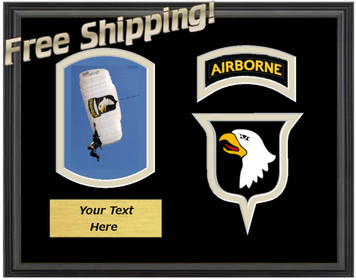 "9"" x 12"" 101st Airborne Horizontal Unit Frame w/ Photo"