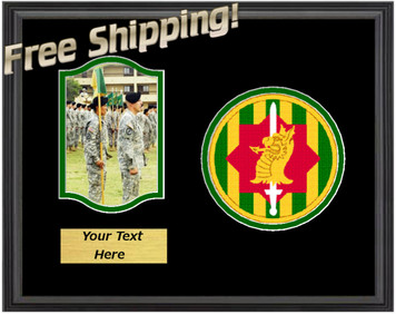 "11"" x 14"" 89th Military Police Horizontal Unit Frame w/ Photo"