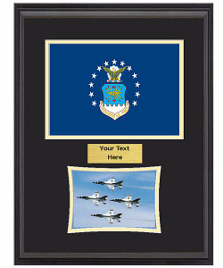 "14"" x 18"" US Air Force Flag Frame w/ 5"" x 7"" Photo"