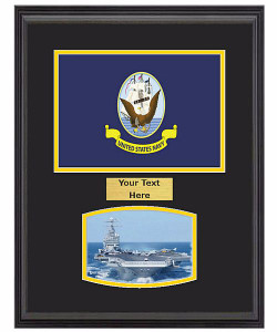 "14"" x 18"" US Navy Flag Frame w/ 5"" x 7"" Photo"
