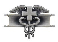 Army Badge: Expert Field Medical - silver oxidized