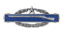 Army Badge: Combat Infantry Second Award - silver oxidized