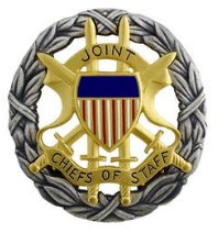 Army Identification Badge: Joint Chiefs of Staff - blouse size oxidized