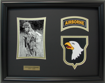 102th Cavalry 1st Squadron Shadow Box Display