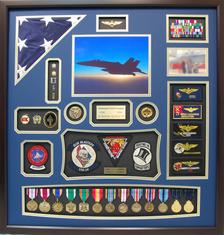 US Navy CDR Pilot Shadow Box Display
