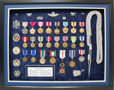 USAF Colonel Open Shadow Box Display