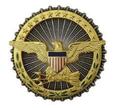 Army Identification Dress Badge: Secretary of Defense oxidized