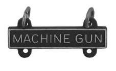 Army Qualification Bar: Machine Gun - silver oxidized finish