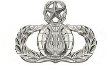 Air Force Badge: Band: Master - regulation size
