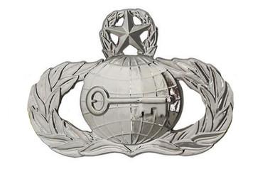 Air Force Badge: Intelligence: Master - regulation size