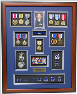 "20"" x 25"" US Air Force Security Forces Shadow Box Display"