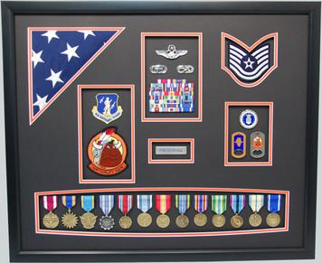 "23"" x 28"" Peoria Air National Guard Retirement Display"