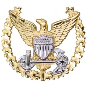 Coast Guard Badge: Command Ashore - regulation size