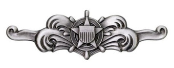 Coast Guard Badge: Cutterman Enlisted - regulation size