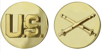 Army Enlisted Branch of Service Collar Device: U.S. and Field Artillery