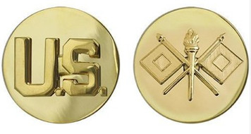 Army Enlisted Branch of Service Collar Device: Signal