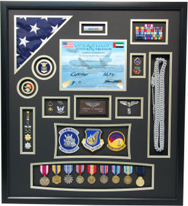 "27"" x 30"" US Air Force ""Operation Enduring Freedom"" Shadow Box"