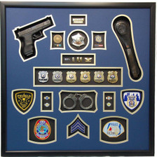 "30"" x 30"" Police Shadow Box with Gun"