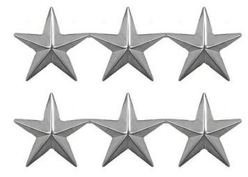 Coast Guard Collar Device: Vice Admiral - three star-per pair