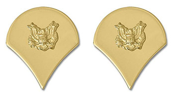 Army Chevron: Specialist 4 - 22k gold plated