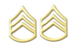 Army Chevron: Staff Sergeant - 22k gold plated