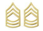 Army Chevron Master Sergeant - 22k gold plated