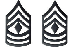 Army Chevron: First Sergeant - black metal