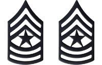 Army Chevron: Sergeant Major - black metal